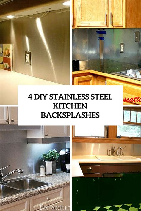 stainless kitchen backsplash 4 functional diy stainless steel kitchen backsplashes shelterness