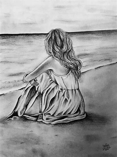 Drawing Sketches Pencil Sketch Sad Easy Den