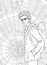 Parker Peter Coloring Spider Deviantart Ren Ka Quilt Dentistmitcham sketch template