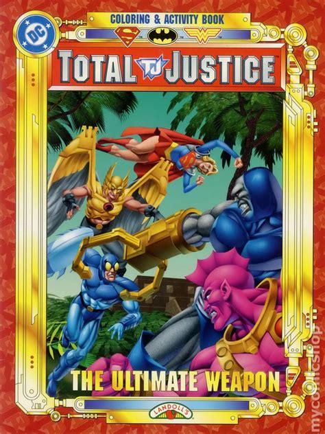 total justice coloring  activity book sc  landolls comic books