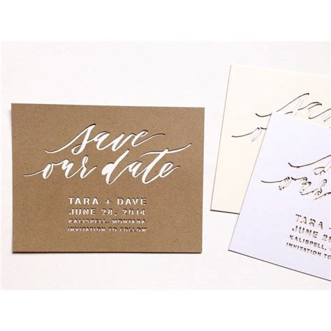 Save The Date Template Laser Cut Save The Date Template By Cast Caligraphy