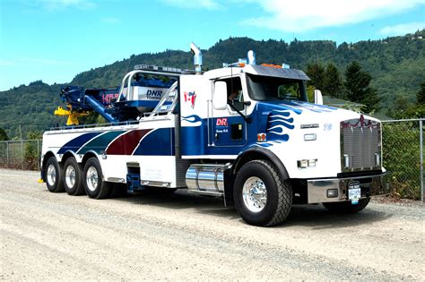 truck wreckers kenworth dnr towing surrey bc kenworth t800 w century 75 ton