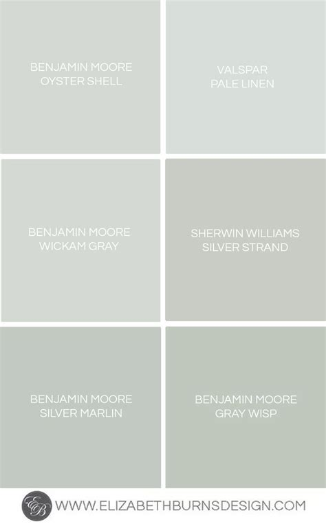 gray blue green shades paint colors