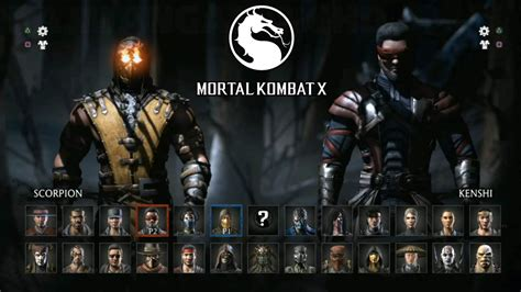 Mortal Kombat All Characters Mortal Kombat X All Characters Revealed 60fps 1080p