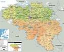 Detailed Political Map of Belgium -Ezilon Maps