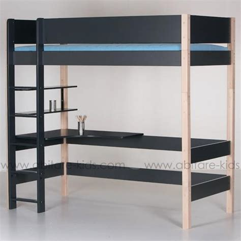 superbe lit mezzanine 90x200 cm avec bureau de la marque