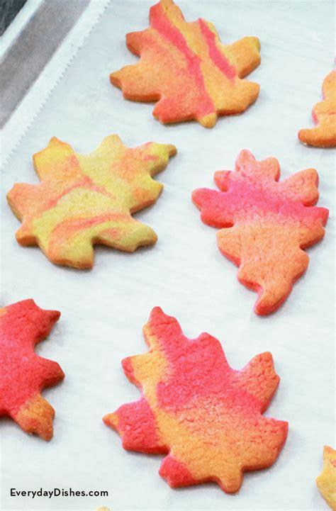 glazed leaf shaped sugar cookies recipe  fall