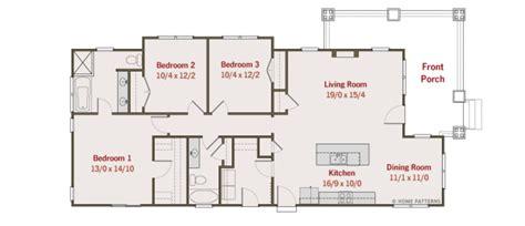 home design diagram craftsman style house plan 3 beds 2 baths 1450 sq ft