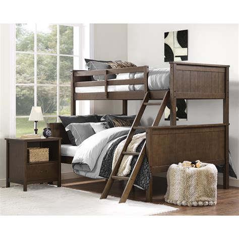 Sears Headboards And Footboards by Dorel Maxton Mocha Twin Over Full Bunk Bed