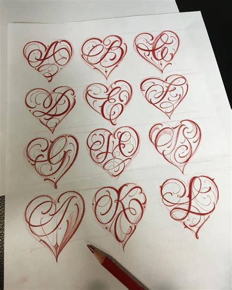 image result  letter   heart tattoo calligraphy