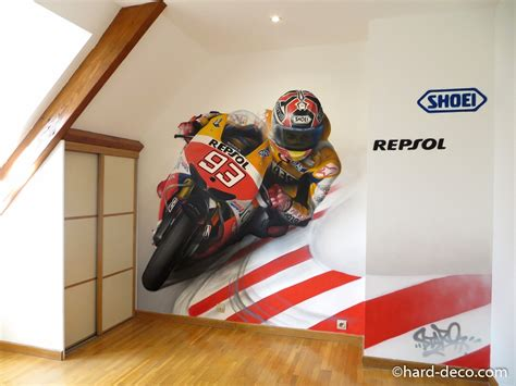 deco chambre garcon theme moto