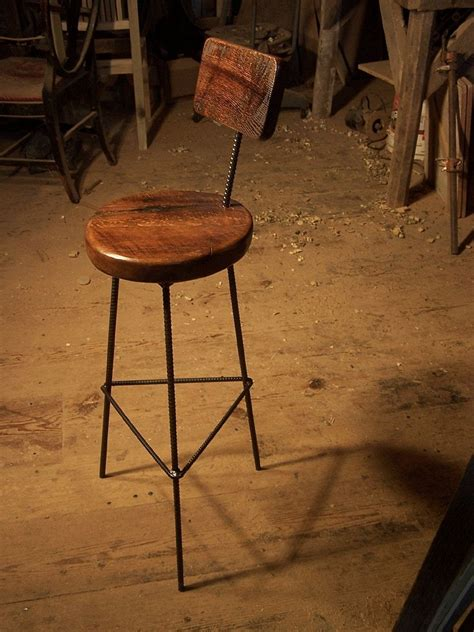 buy  custom  reclaimed oak bar stools  industrial