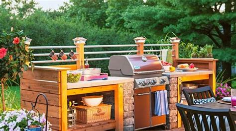 beautiful ideas  outdoor kitchens wood structure