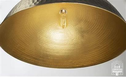 Hammered Pendant Nickel Fixture Dome Brushed Lighting