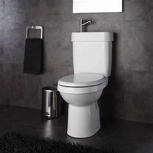 Pose Wc Sortie Verticale : wc avec lave main int gr sortie verticale planetebain ~ Melissatoandfro.com Idées de Décoration