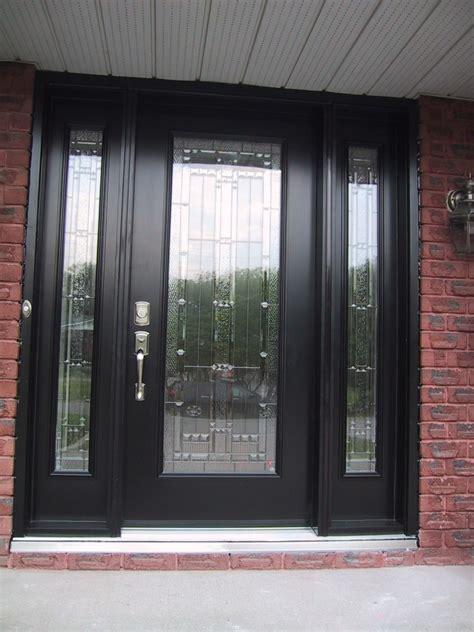 Modern Home Main Door Design With Dark Gray Wooden Single