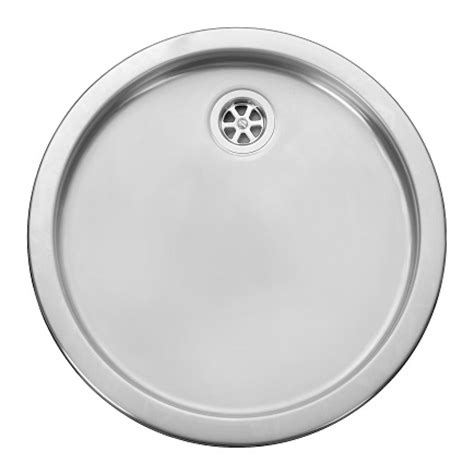 round stainless steel sink leisure rd440bf 1 0 bowl round inset stainless steel