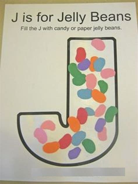 letter j crafts preschool and kindergarten 902 | jelly beans activity for letter j