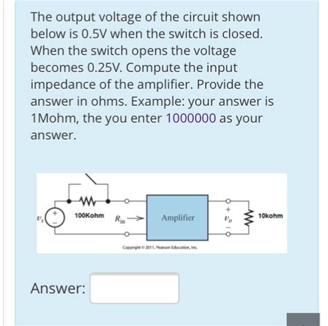 Solved The Output Voltage Circuit Shown Below