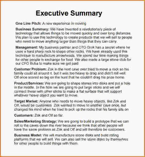 doc 585680 31 executive summary templates free sle