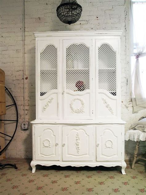 shabby chic china cabinet pinterest
