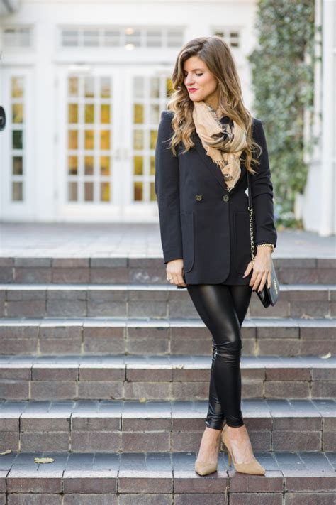 Winter Date Night Outfits with faux leather liquid leggings