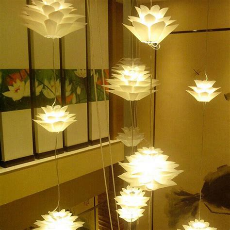 modern diy lotus chandelier ceiling light shade pendant