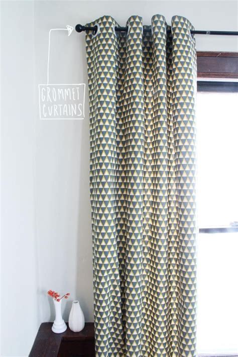 diy tutorial diy curtains diy grommet curtains