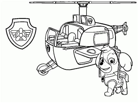Sky paw patrol Coloring pages Print coloring 2019