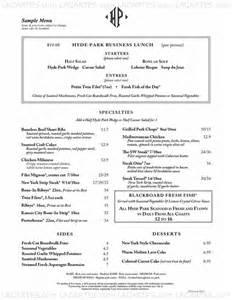 2 of 5 price lists menus hyde park restaurant sarasota fl sarasota american steakhouse