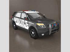 Ford Explorer Police 3D Model FormFonts 3D Models & Textures