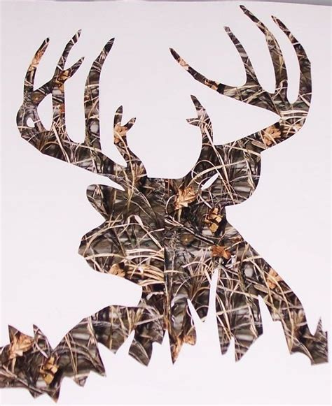 real tree  camo  woods buck deer hunting decal