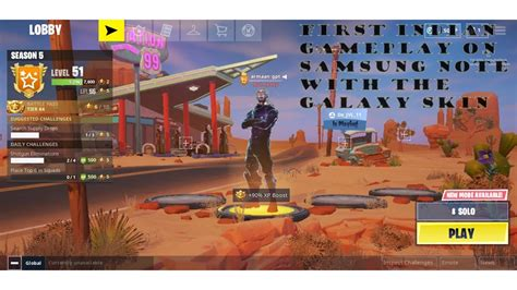 fortnite mobile gameplay  samsung note  st  india