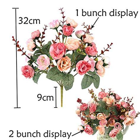 mazzi di fiori finti lumenty confezione 2 mazzi di in seta artificiale