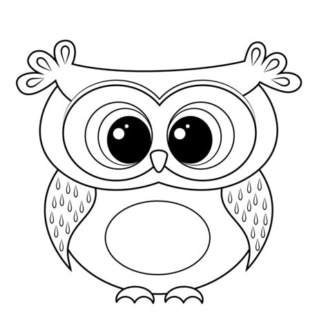 Pictures Of Owls To Color by Owl Coloring Page Owl Coloring Pages Owl C