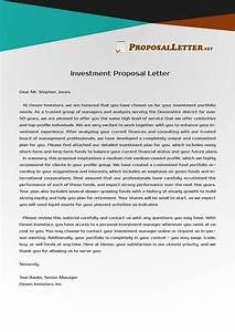 best 25 proposal letter ideas on pinterest sample of With best investment letters