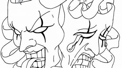 Cry Later Laugh Drawings Smile Coloring Pages