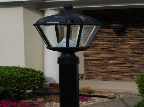 solar powered outdoor lighting fixtures solar l posts