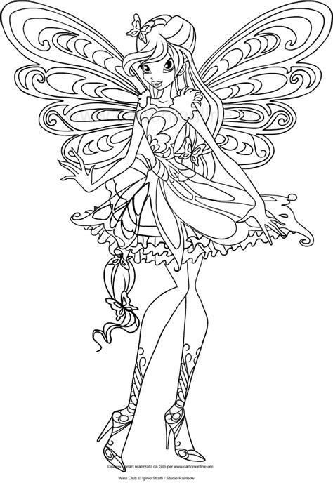 disegni da colorare winx disegno di bloom butterflix winx club da colorare