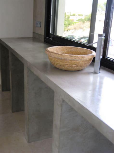 paillasse cuisine beton mineral plan de travail pas cher