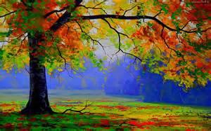 4 beautiful tree paintings image