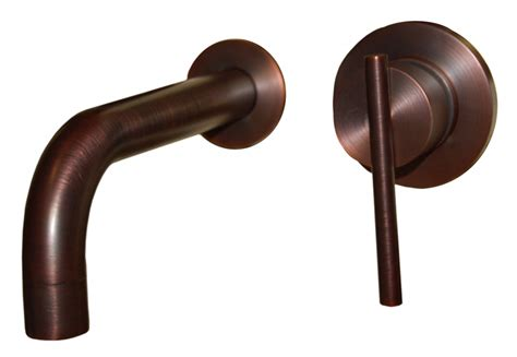 single handle wall mount faucet in oil rubbed bronze