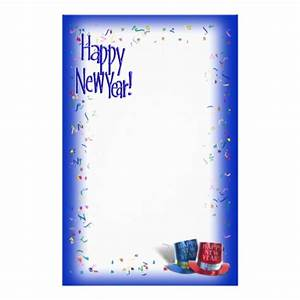 happy new year page border new calendar template site