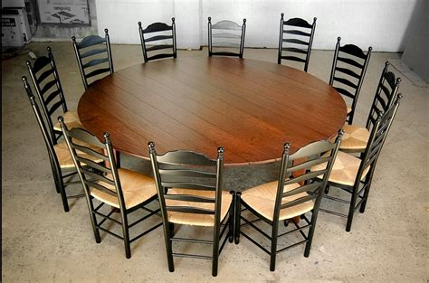 round dining table for 12 custom wood tables handcrafted farmhouse dining tables