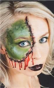 Schminken Zu Halloween : frankensteins braut halloween schminken schminken anleitung tipps motive vorlagen ~ Frokenaadalensverden.com Haus und Dekorationen