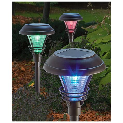 6 pk of kenbury solar path lights bronze finish 584643 solar outdoor lighting at