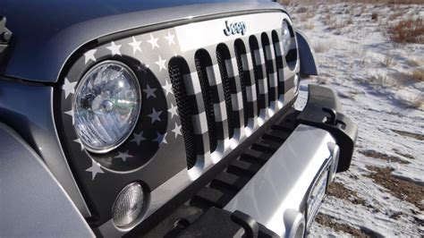 american flag jeep grill the custom grille on this jeep will make you want to