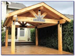 Free Standing Wood Patio Cover
