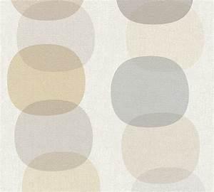Tapete Mit Kreisen : tapete vlies kreise retro wei grau as creation 35590 3 ~ Orissabook.com Haus und Dekorationen