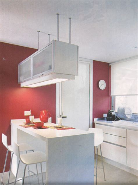 mueble colgante  separar espacios cocinas en